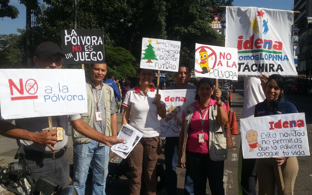 """Idenna realizó campaña """"¡Alto! A los Fuegos Artificiales"""" en Táchira"""