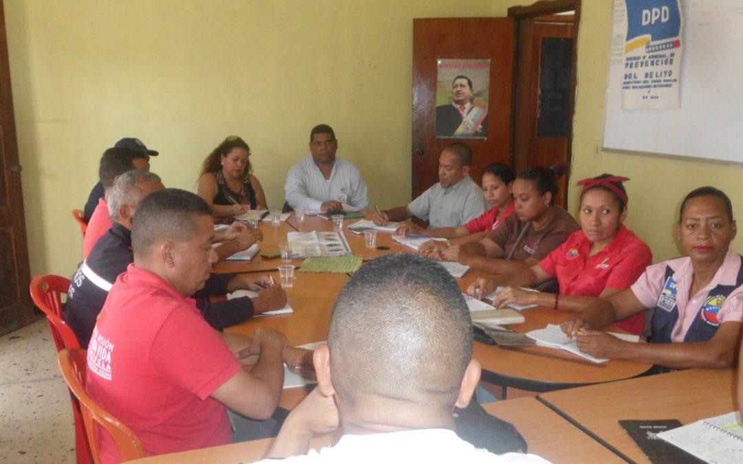 Idenna participó en mesa de trabajo del Frente Preventivo del estado Bolivariano de Cojedes