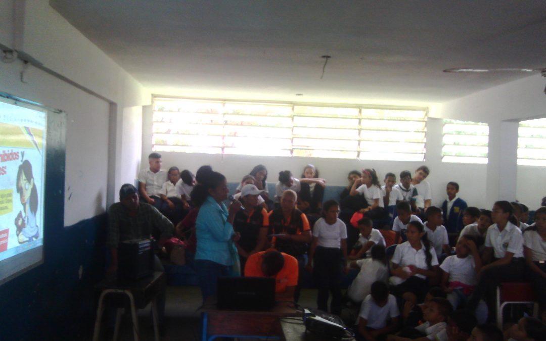 Idenna atendió a escuelas y liceos del municipio Cedeño en Bolívar