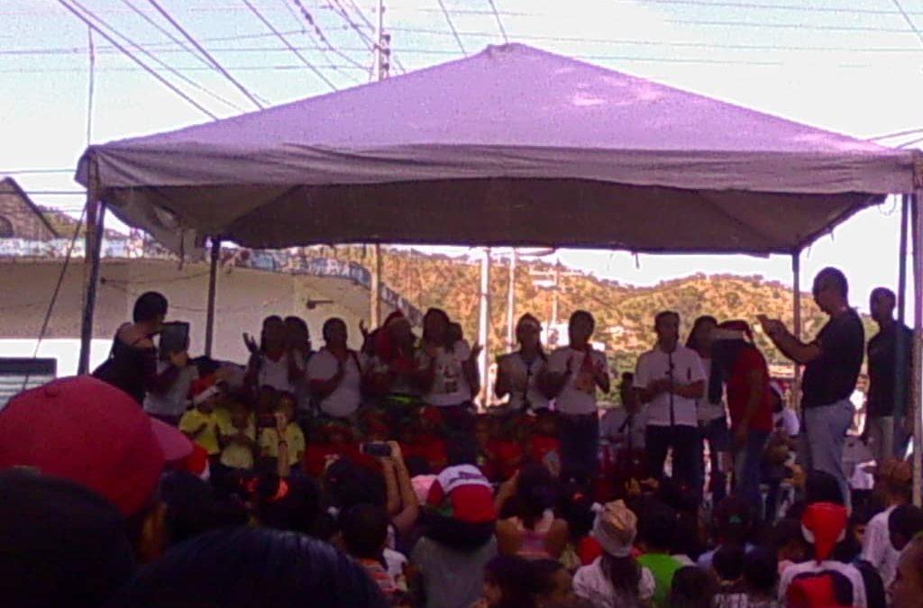 Idenna promovió los derechos de NNA en Mega Parrandón Navideño realizado en Aragua