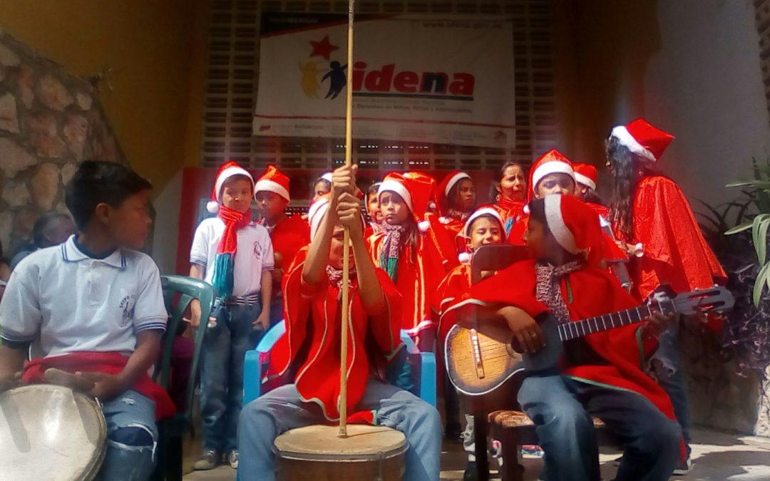 Idenna realizó parrandón navideño con NNA de diferentes comunidades en Mérida