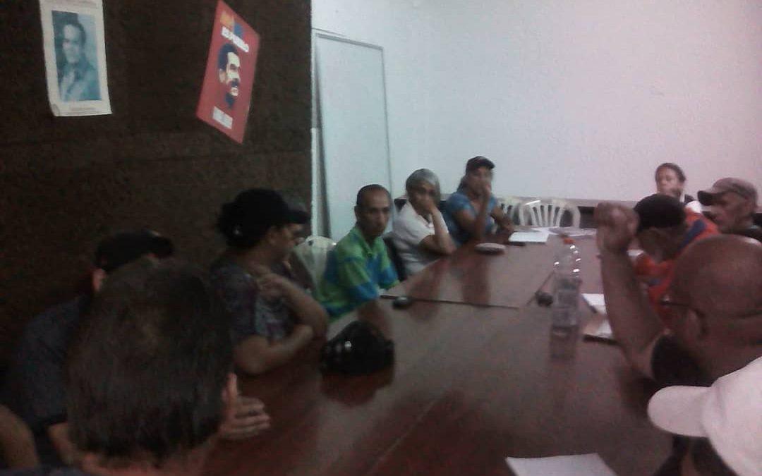 Idenna BPDI y UPDI sostuvieron una mesa de trabajo en Carabobo