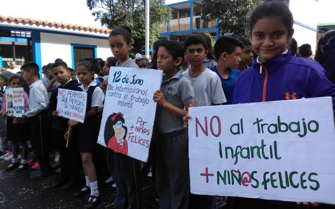 Idenna realizó concentración preventiva contra la explotación infantil en el estado Táchira