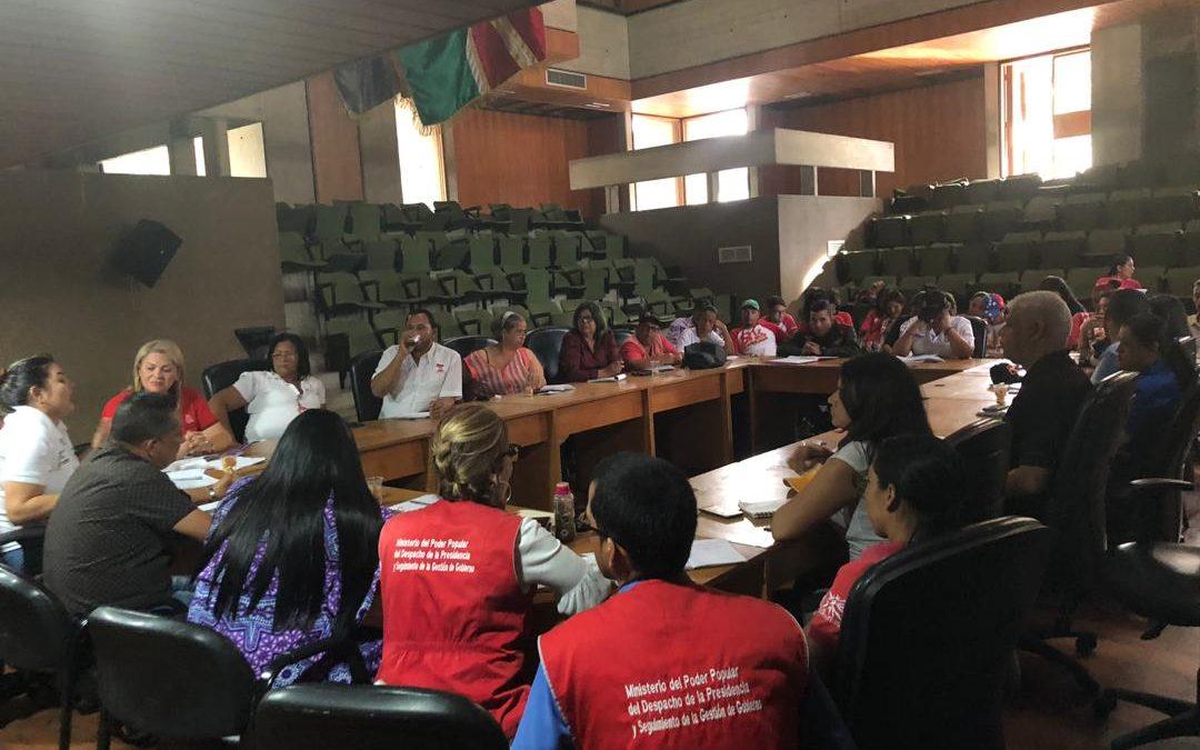 Idenna y organismos gubernamentales definieron estrategias a propósito del Plan de Atención Integral a las Víctimas de Guerra Económica en el estado Lara